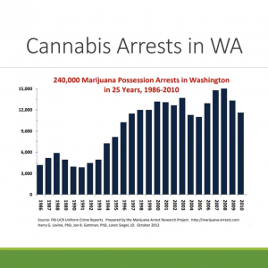 Washington State Legislative Task Force on Social Equity in Cannabis - Public Meeting (October 26, 2020) - Disproportionate Impact Areas - Cannabis Arrests in WA