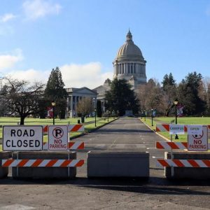 Washington State Capitol - Road Closed